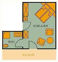 Grundriss Doppelzimmer Haupthaus 21qm Hotel Klumpp Baiersbronn