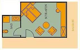 Grundriss Doppelzimmer Haupthaus 25qm Hotel Klumpp Baiersbronn